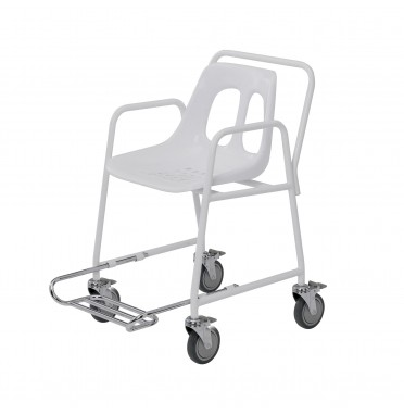 Roma Mobile Wheeled Shower Chair with Footrest