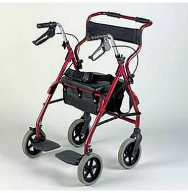 An all in one rollator and wheelchair