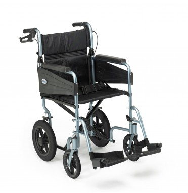 Front view of the Days Escape Lite Wheelchair in blue