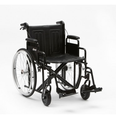 Drive Medical Sentra wheelchair viwed from the side angle