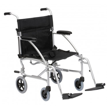 Enigma Lightweight Travel Chair viewed from the side angle
