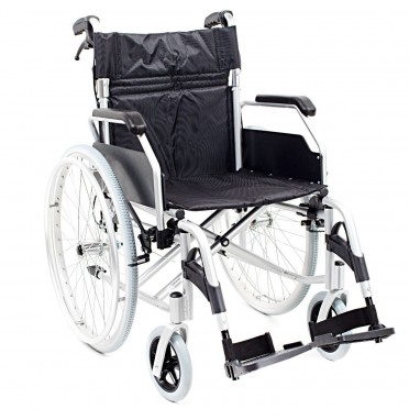 A side view of the I Explore Self Propelled Aluminium Wheelchair