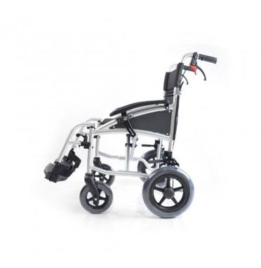 Side view of the Karma i-Lite Plus Transit Wheelchair