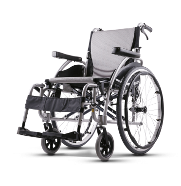 Karma Ergo 115 Self Propelled Wheelchair in silver