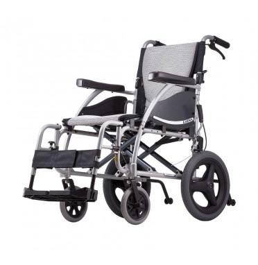 Karma Ergo 125 TALL Transit Wheelchair in silver
