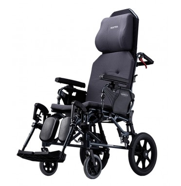 The Karma MVP-502 wheelchair viewed from the side angle