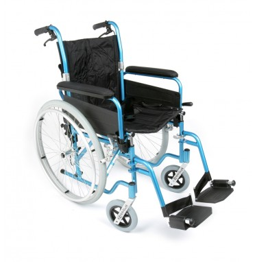 Lightweight Folding Esteem wheelchair showing brakes viewed from the side angle