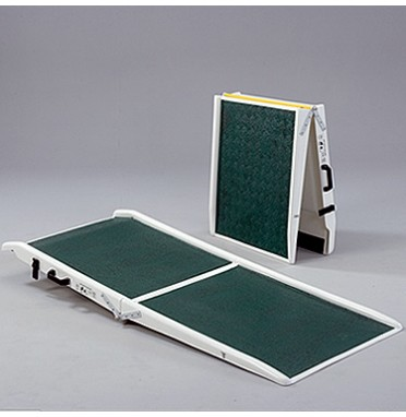 Folding fibre glass lightweight wheelchair ramps