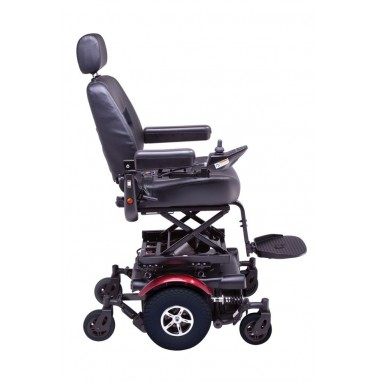 P327 XL Powerchair showing raised seat extended