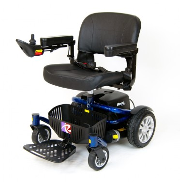 Roma Reno Elite electric wheelchair in blue