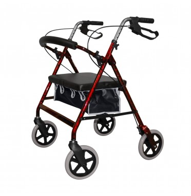 Roma Medical 2467 Heavy Duty Rollator in Red