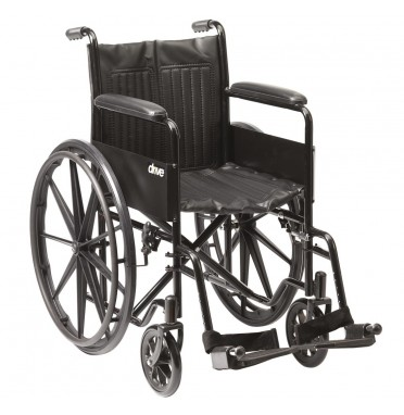 Drive Medical S1 Steel Self-Propelled Wheelchair