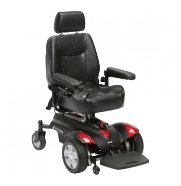Titan Powerchair in red