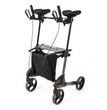 TOPRO Troja forearm walker rollator in dark grey viewed from the side