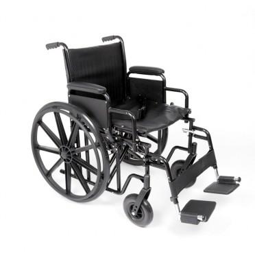 Ugo Atlas heavy duty steel self propelled wheelchair viewed from the side