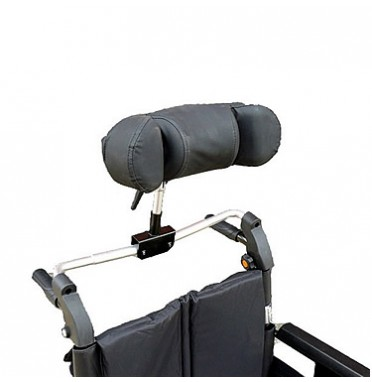 A retro fit adjustable headrest for wheelchairs
