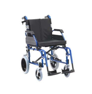 XS Aluminium Transit Wheelchair Blue