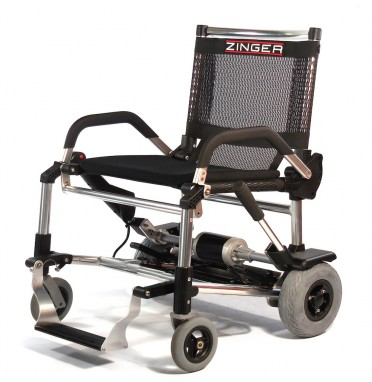 Zinger lightweight folding powerchair