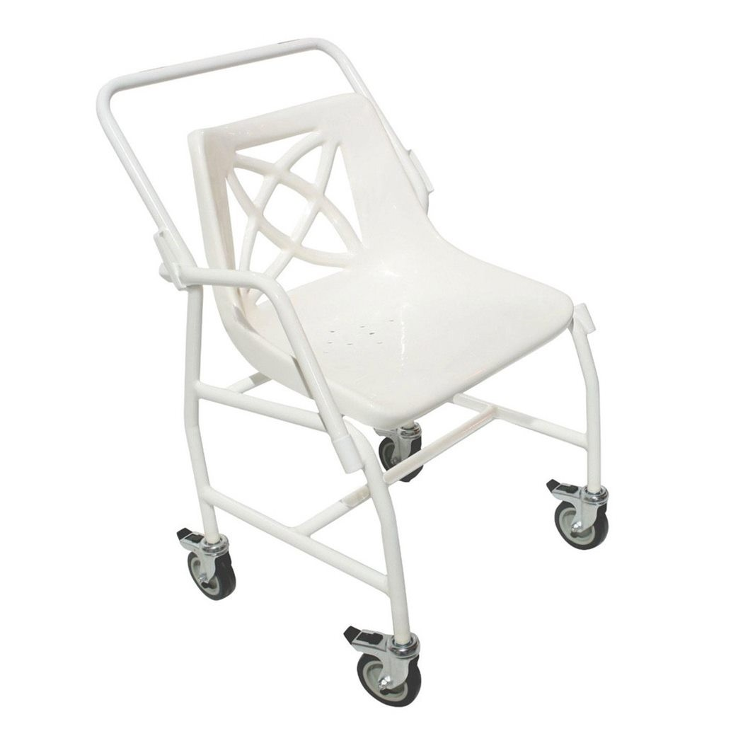 Wheeled mobile shower chair with detachable arms at low prices ! UK ...