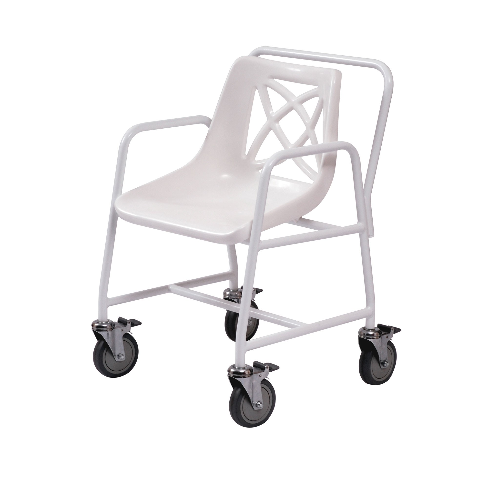 Roma Medical Wheeled Mobile Shower Chair at low prices ! UK Wheelchairs