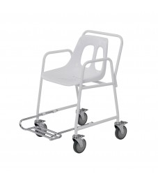 Mobile Wheeled Shower Chair with Footrest