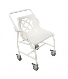 Wheeled Mobile Shower Chair with detachable arms