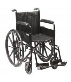 "Drive Medical S1 Steel Self-Propelled 18"" Wheelchair"