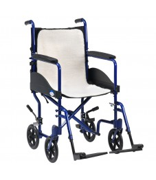 Wheelchair overlay fleece cushion