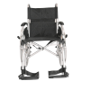 Front view of the Esteem Eclipse lightweight wheelchair  showing leg rests