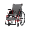 Karma Ergo 125 Self Propelled Wheelchair side view in red