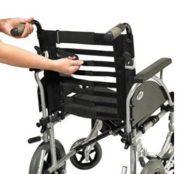 Adjustable wheelchair seat back