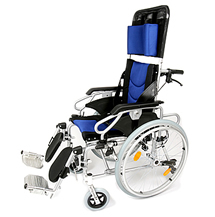 Reclining wheelchairs and tilt in space chairs