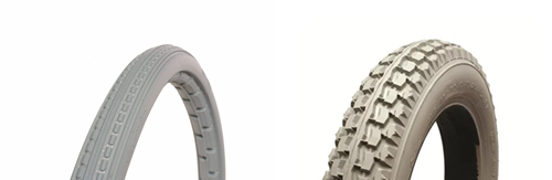 Wheelchair tyre types