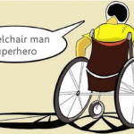 Wheelchair Man Superhero