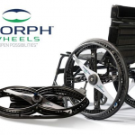 Folding wheels for wheelchairs