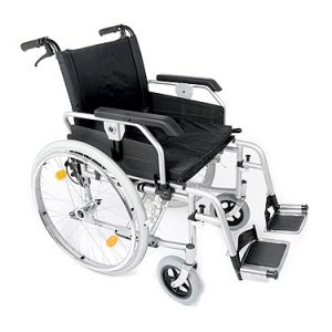 A Esteem heavy duty bariatric wheelchair with attendnat brakes