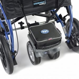 The TGA Duo wheelchair powerpack shown in situ