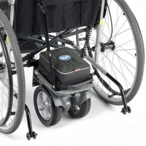 The TGA wheelchair powerpack PLUS shown in situ
